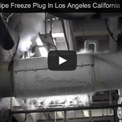 24inch Indoor Pipeline Freeze Plug Video
